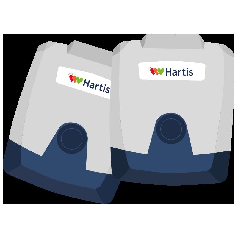 Hartis Holter voor registreren van hartritme
